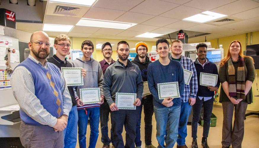 QCC students who passed Level 1 certification.