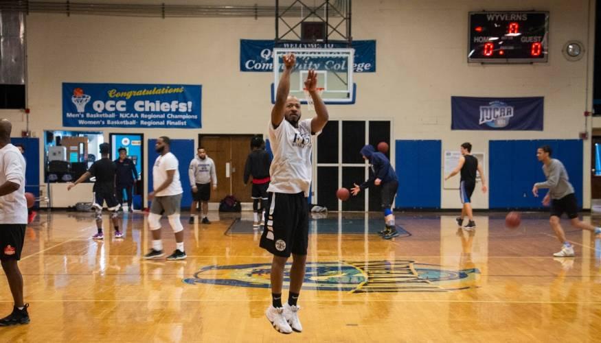 A QCC alum still has his basketball moves.