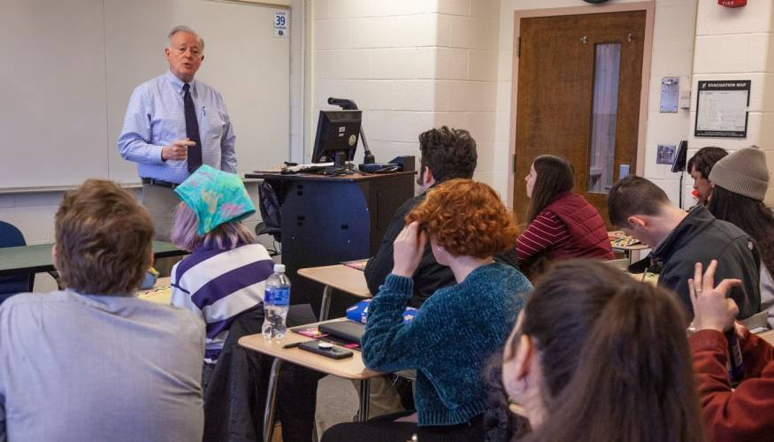Professor Brennan works to inspire his students.