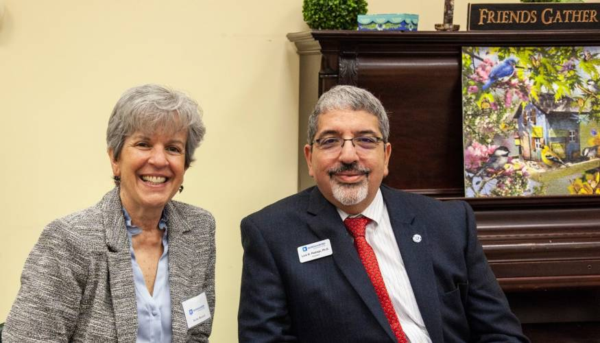 Assistant Vice President for Workforce Readiness and Innovation Kathy Rentsch and President Dr. Luis G. Pedraja at the Co-op Ap