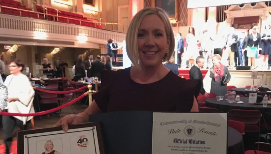 """""""40 Under 40"""" winner QCC alumna Kara Wiersma"""