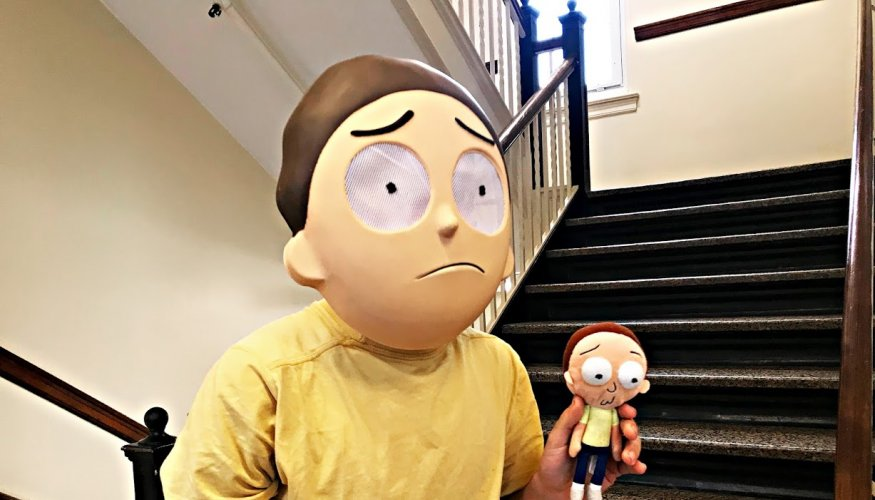 Rick and Morty was seen in the hallways of the Administration building.