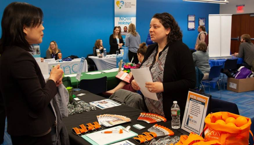 QCC student at the QCC Human Services Fair.
