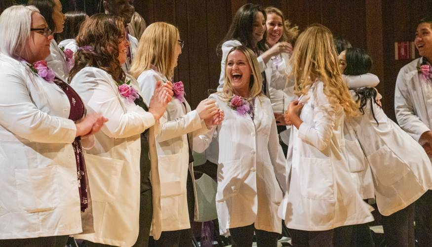 Excitement abounds for dental hygiene and assisting grads.