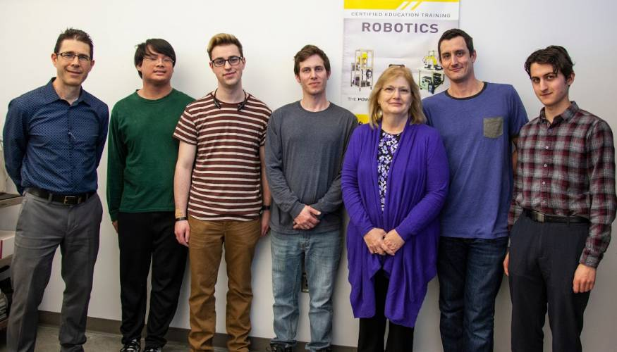 Professor James Heffernan's Industrial Robots class.