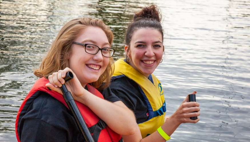 QCC students enjoy a day on the water during the Dragon Boat Races.