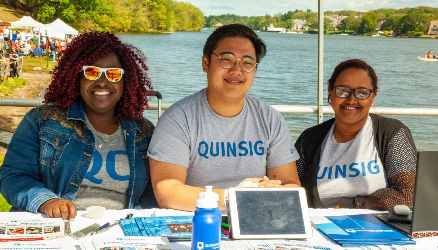 QCC students were on hand at the Dragon Boat Festival to inform people about the college.