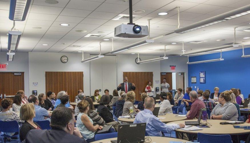 Dr. Pedraja speaks at a recent Strategic Planning session.