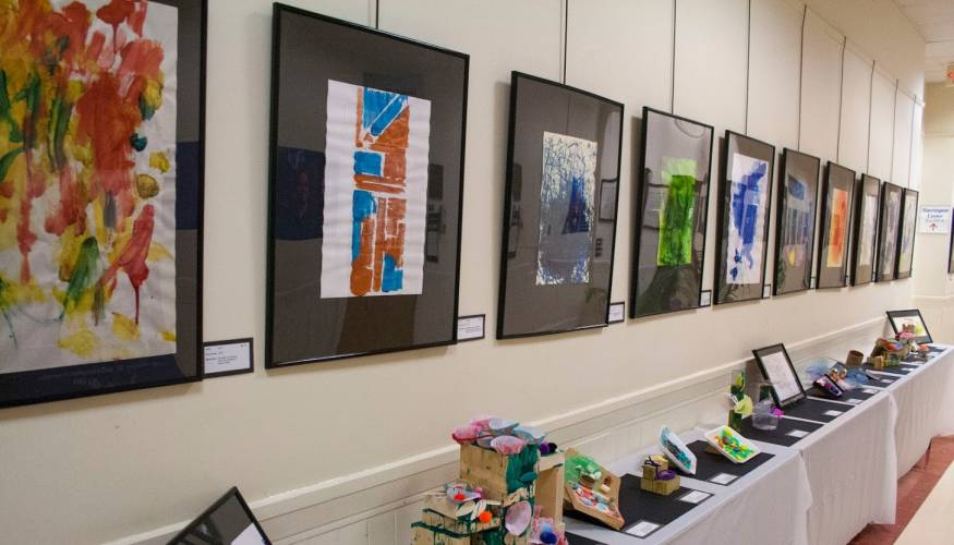 The Children's School celebrates the Week of the Child with an Art Exhibit in April.