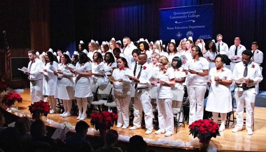 December Nurse Education graduates from the evening programs.