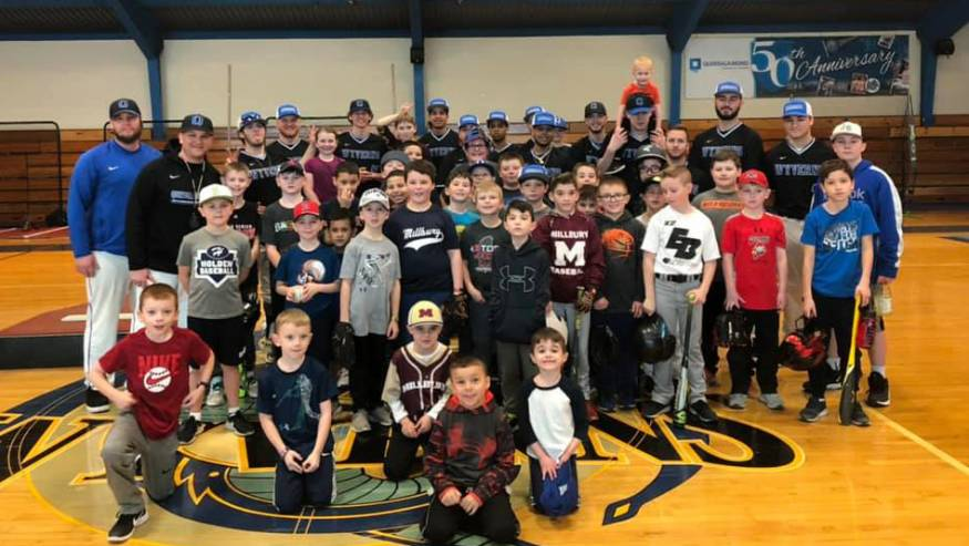 February Baseball Clinics were well-attended.