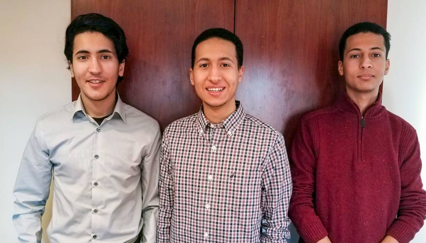 QCC students and siblings Mahmoud, Mustafa and Mohamed Boweden