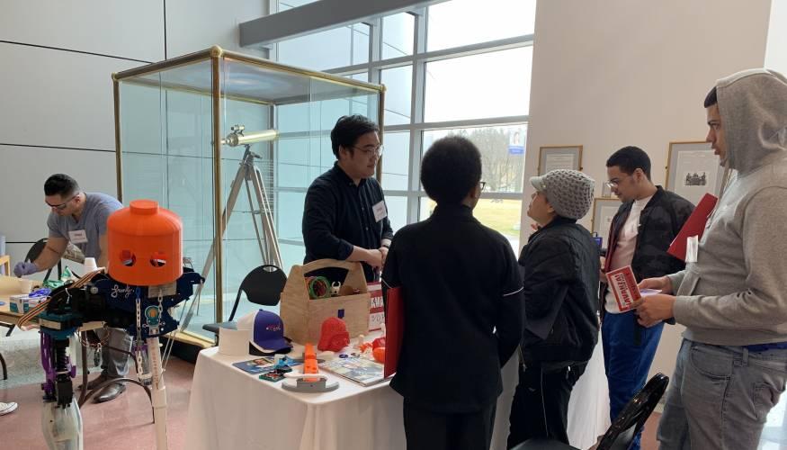 QCC STEM Ambassador Brandon Won explains 3D printing.