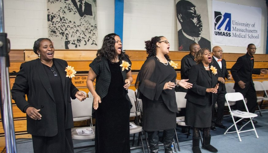 The Gospel Choir Association of New England performed at the MLK Community Breakfast.