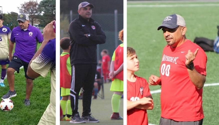 QCC's new Men's Soccer Coach Frank Balcarcel