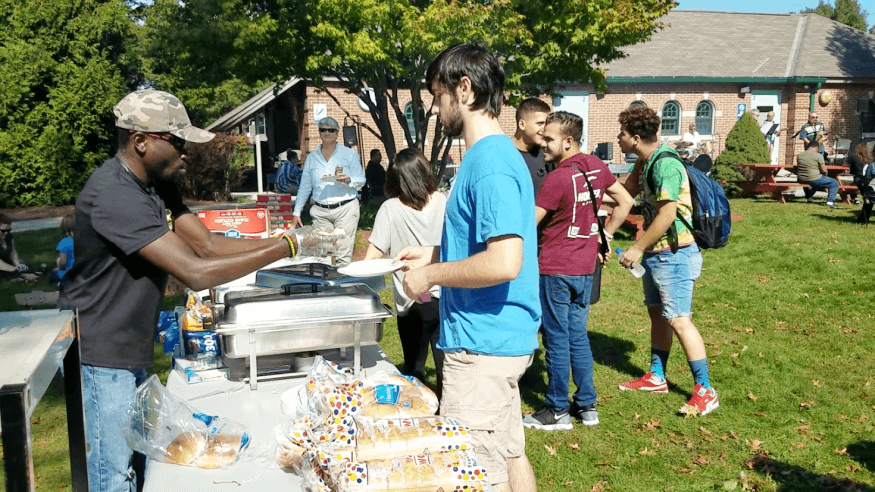 It was a perfect day for the PTK cookout.