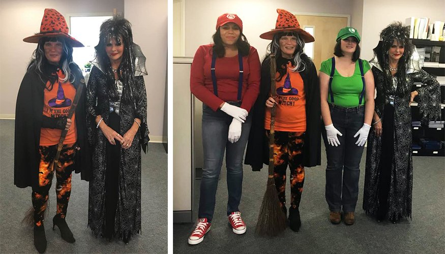 The staff in Human Resources were all dressed up and ready for a fun event.