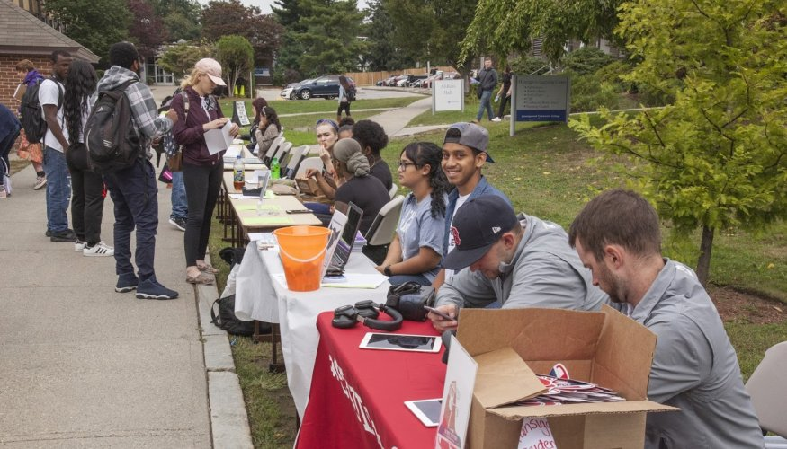 QCC students flocked to Club Rush Days.