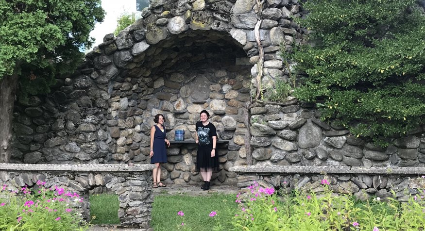 Enjoying the final days of summer at the Grotto.