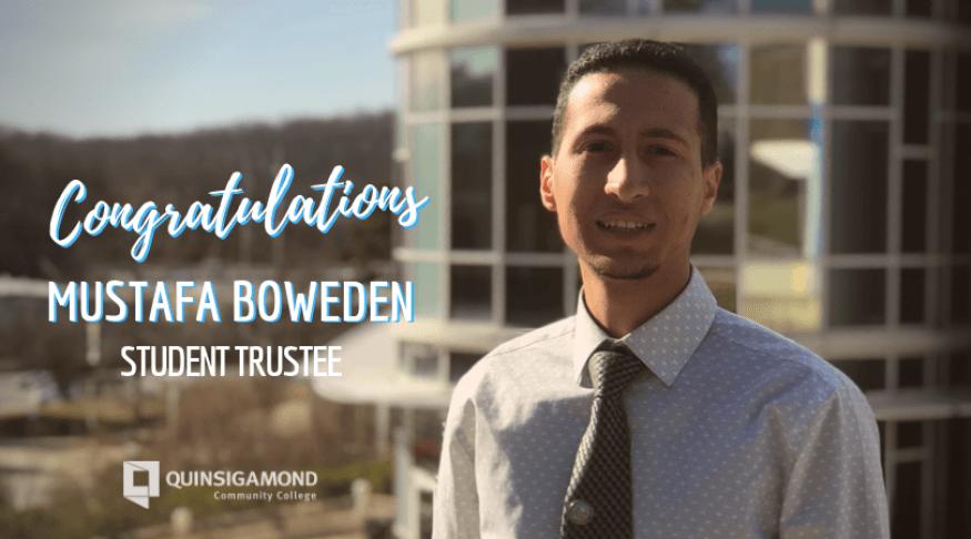 QCC Student Trustee Mustafa Boweden