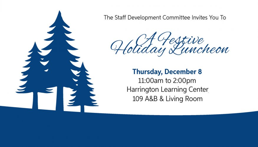 faculty and staff invited for holiday luncheon quinsigamond