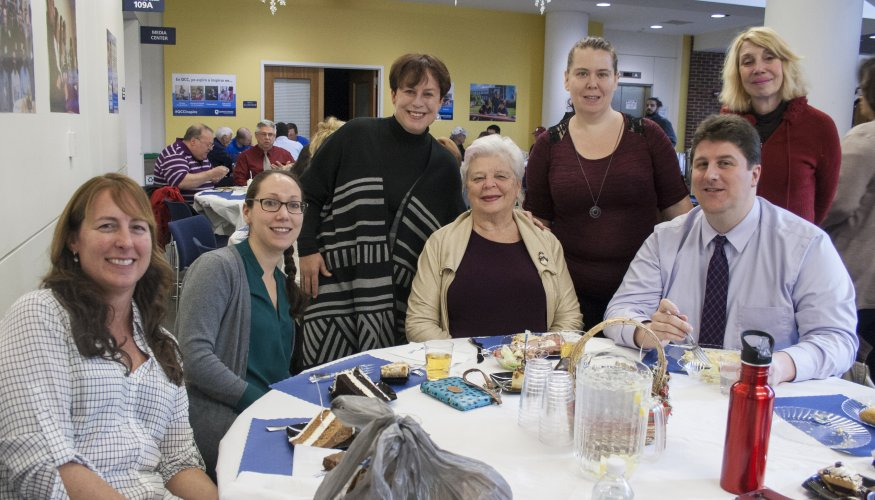 faculty and staff at Holiday Luncheon