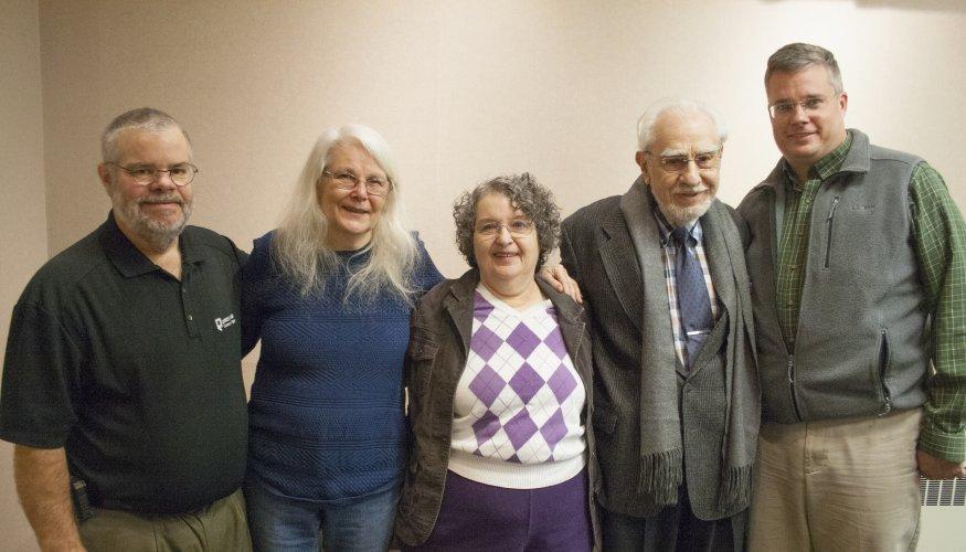 Louise Hamelin at retirement party