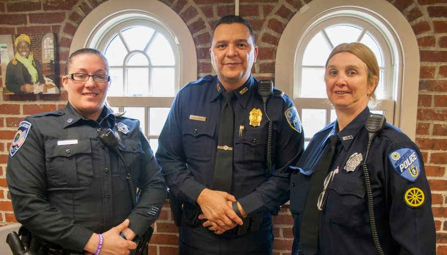 QCC campus police officers