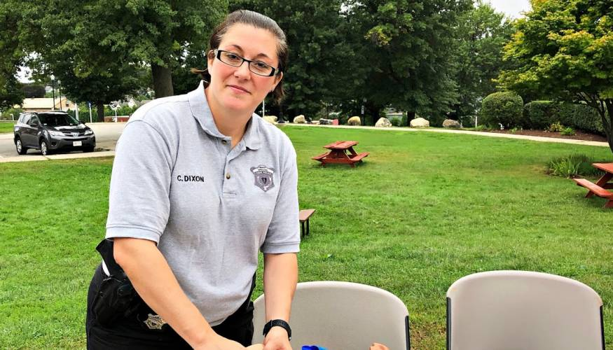 """QCC Police Officer and Community Resource Officer Catherine """"Kate"""" Dixon"""