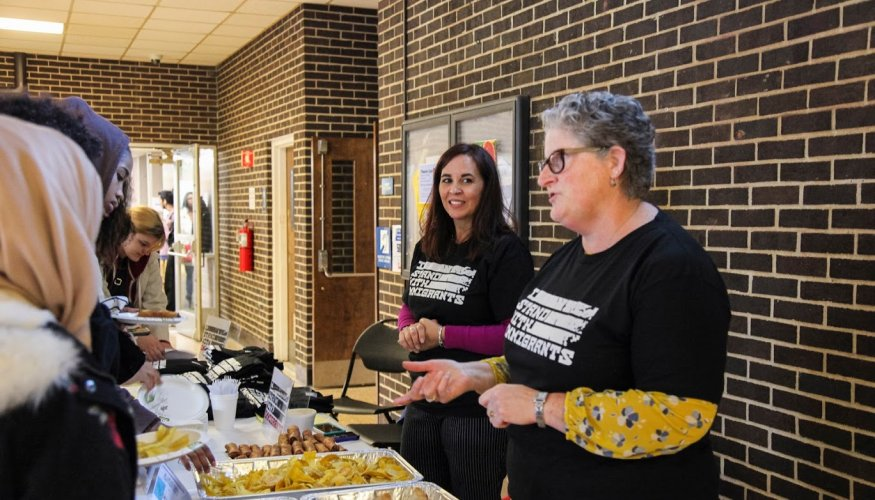 "Ethic foods were a part of the ""I Stand with Immigrants"" event."