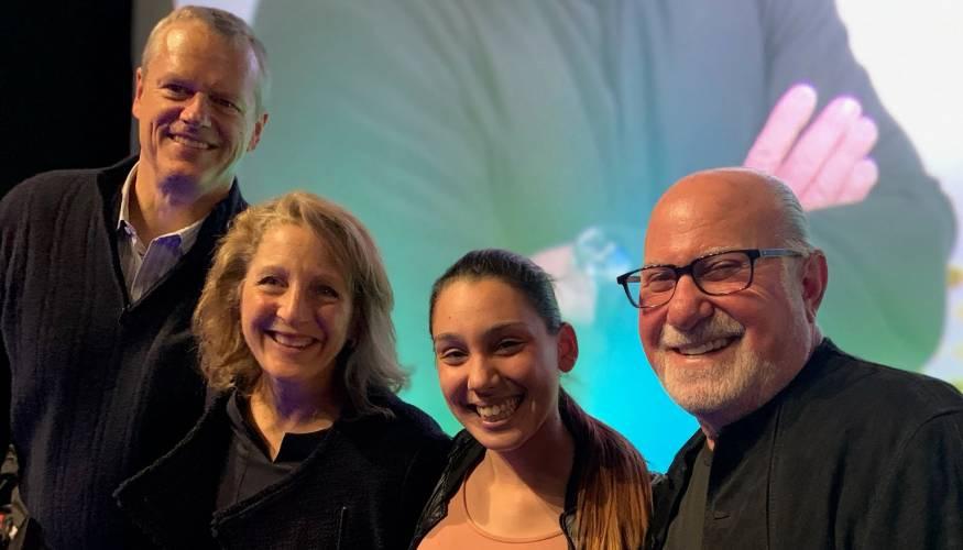From left: Governor Charlie Baker, Lauren Baker, Jenitza Negron and Eliot Tatelman.