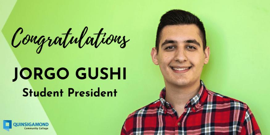 QCC Student Gocernment Association President Jorgo Gushi