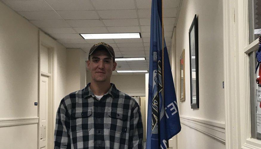 QCC student and veteran Kyle Nash.