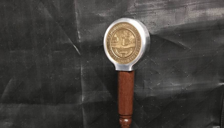 QCC's new Ceremonial Mace.