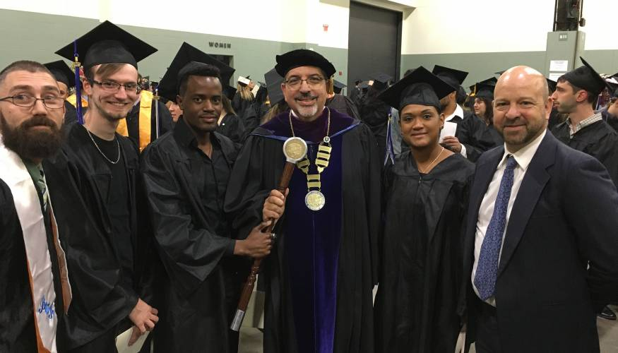 From left: Jason Butler, Thomas Dorman, Dhalin Lutaaya, Dr. Luis Pedraja, Johanny Polance, and Lee Duerden.