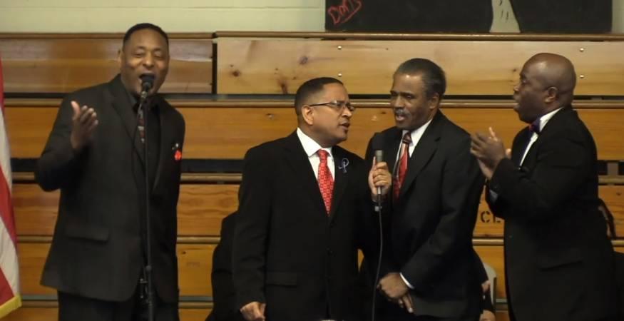 Joyful singing was a part of the MLK Worcester County Community Breakfast.