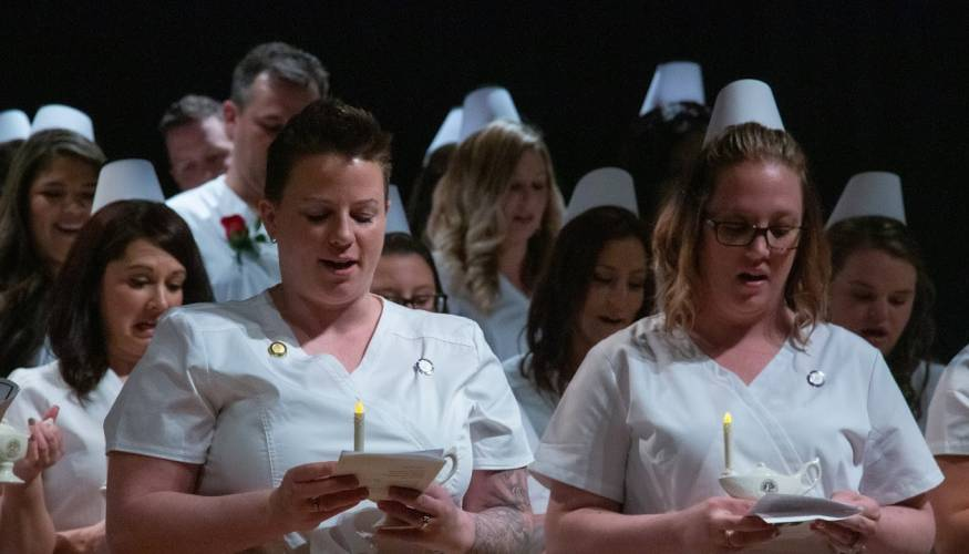 Each QCC nursing student received a lamp, which represents one of the most celebrated nurses in history, Florence Nightingale.