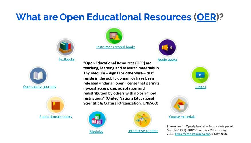 Learning about OER.