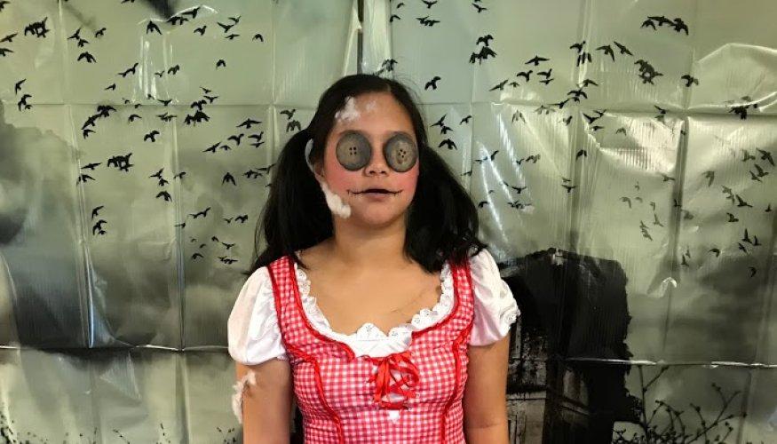 Olivia Astorga as the stuffed doll