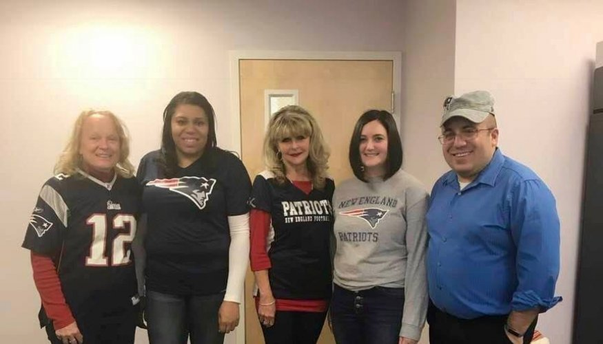 QCC's Human Resource Department showed their support of the New England Patriots going into Super Bowl weekend.