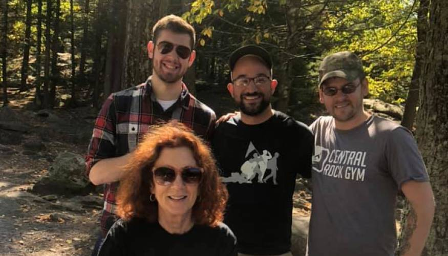 QCC Veterans Club members with Director of Veterans Affairs Paula Ogden at the Club's annual picnic at Purgatory Chasm.