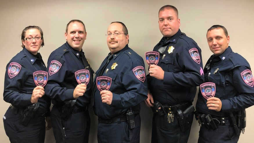 QCC Police display their pink patches