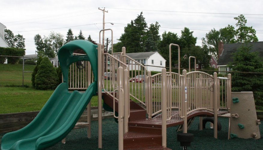 Outdoor play is a part of QCC's Children's School.