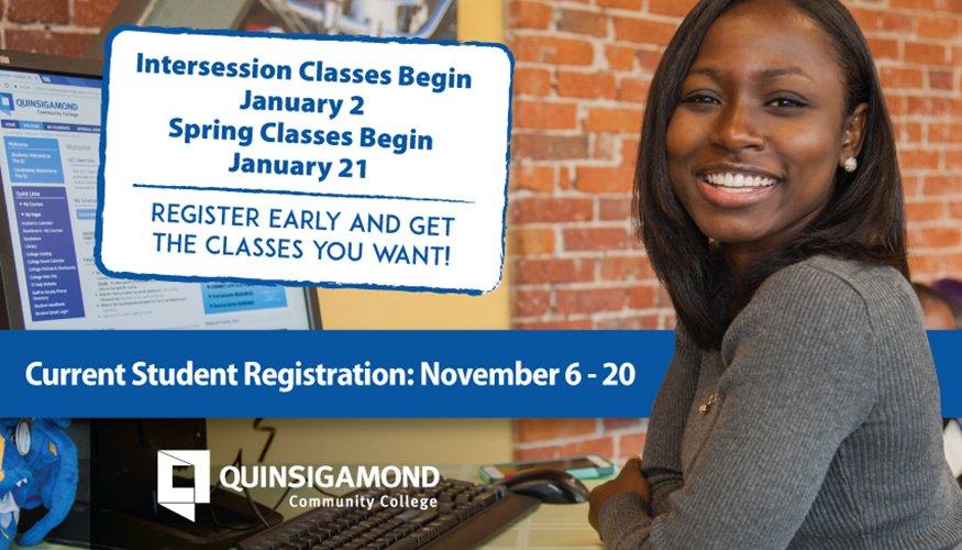 Current Student Registration begins November 6.