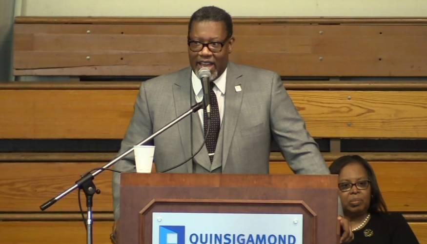 Keynote speaker Rev. Lester A. McCorn
