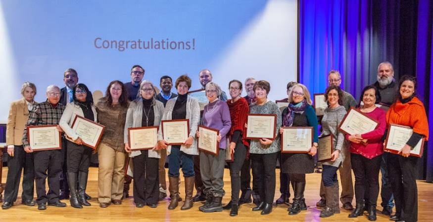 On January 22, 2019 37 QCC faculty and staff members were honored for their years of service.