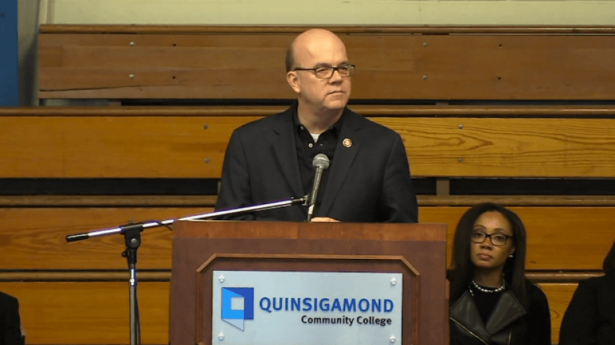 Congressman James McGovern was one of the many speakers at the MLK Jr. Community Breakfast.