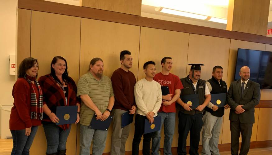 Karl Storrs employees are advancing their careers through QCC's Manufacturing Certificate program.