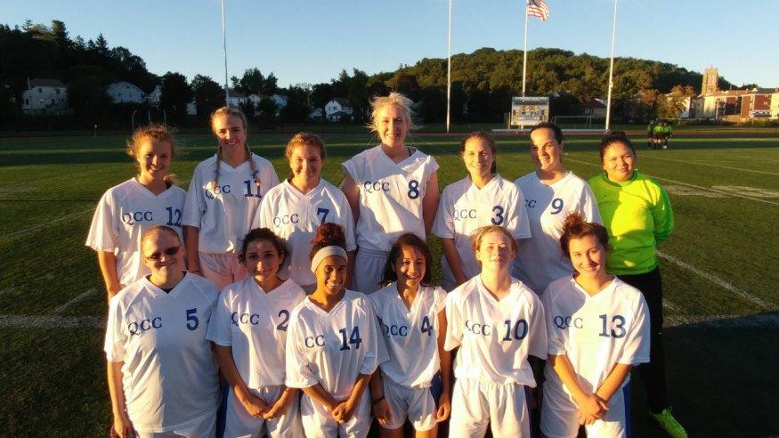 QCC's 2017 Women's Soccer team.