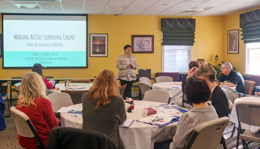 Forty QCC faculty and staff members attend the recent 'Using Technology in the Classroom Conference'